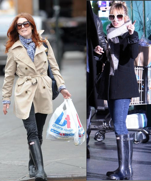 Celebrities wearing Hunter Boots