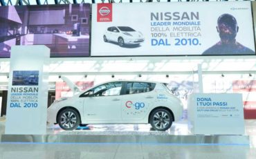 Auto elettrica Nissan aereoporto